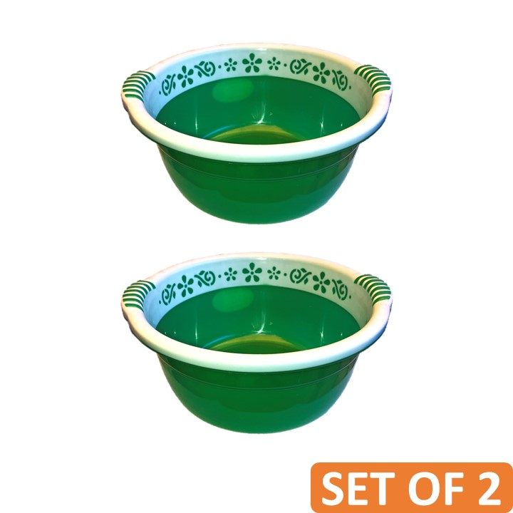 Twin Colour Basket Plain Solid (Set of 2)