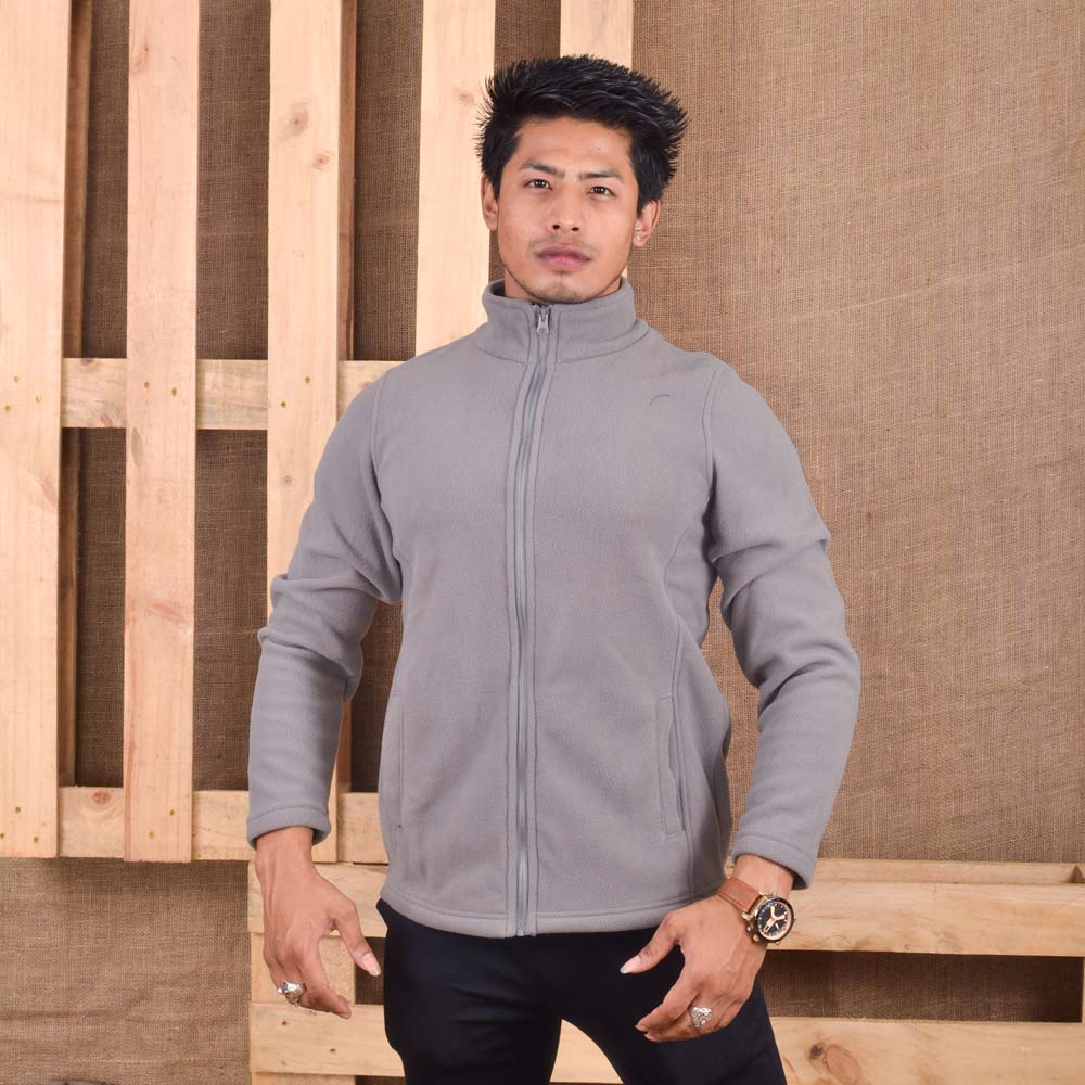 KTM CTY Men Fleece Light Grey Jacket- KFJ05772