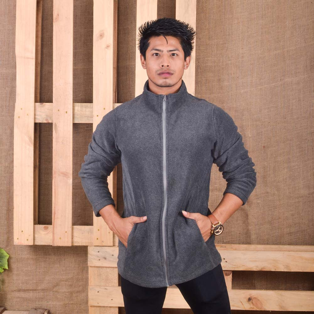 KTM CTY Men Fleece Dark Grey Jacket- KFJ05772