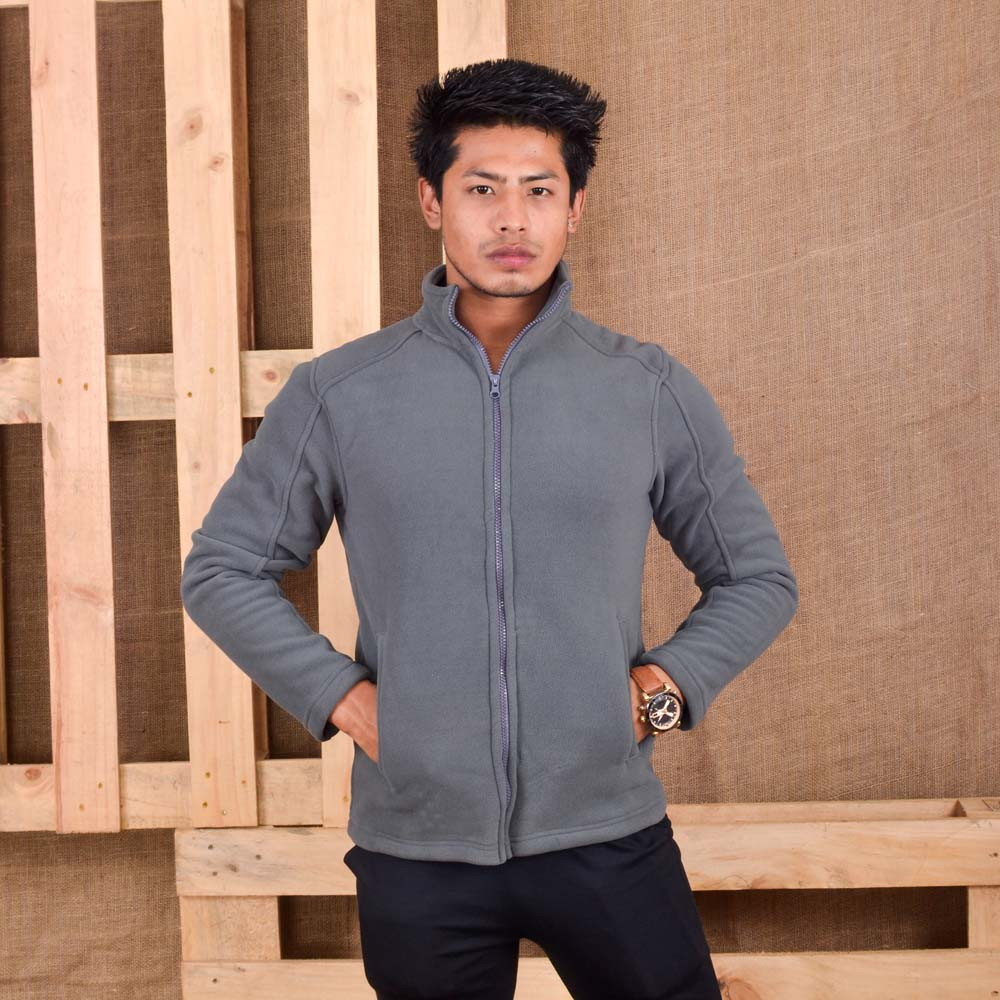KTM CTY Men Fleece Ash Grey Jacket- KFJ05772