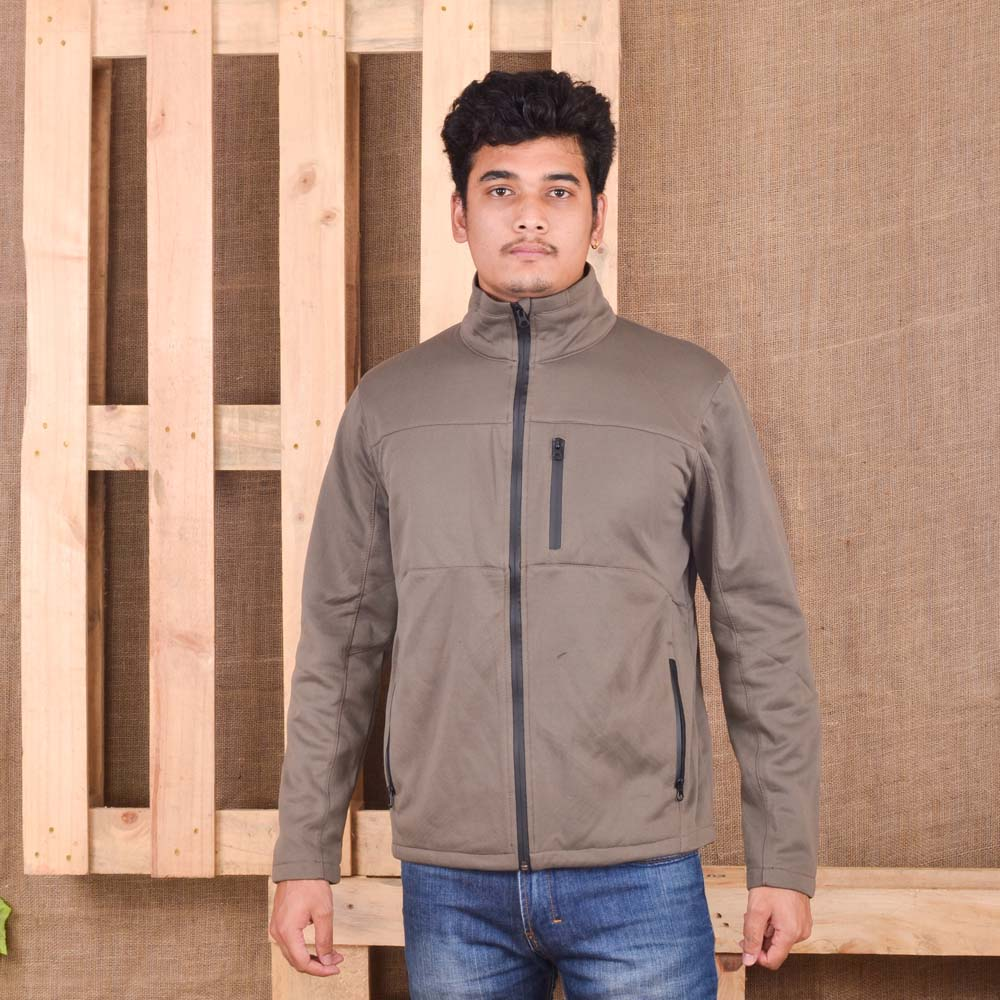 KTM CTY Men Softshell Brown Jacket PU  Zipper- KSJ25738