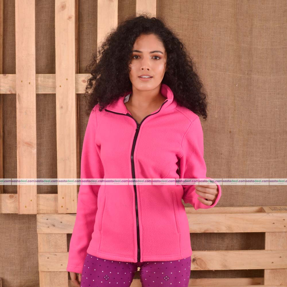 KTM CTY Women Fleece Hot Pink Jacket- KFJ96805