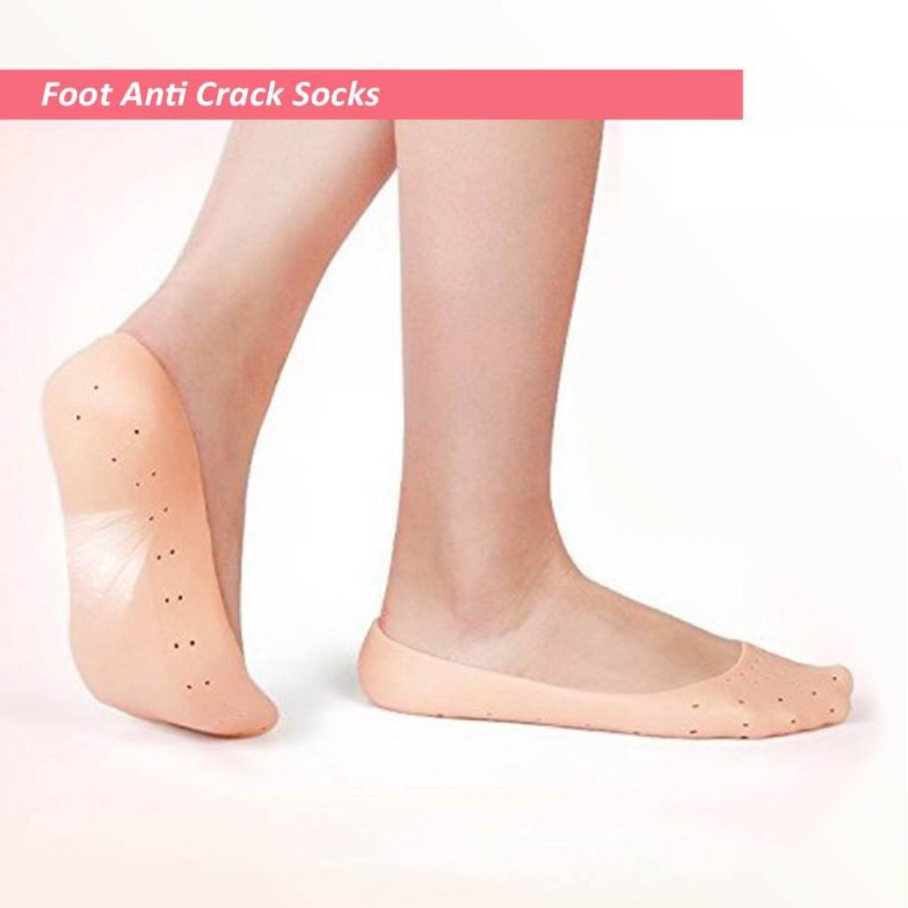Anti Crack Full Length Silicone Foot Protector Moisturizing Socks For Foot-Care And Heel Cracks For Summer
