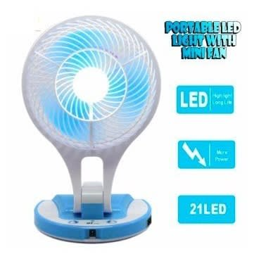 JR-5580 Rechargeable Portable Mini Fan with LED Light