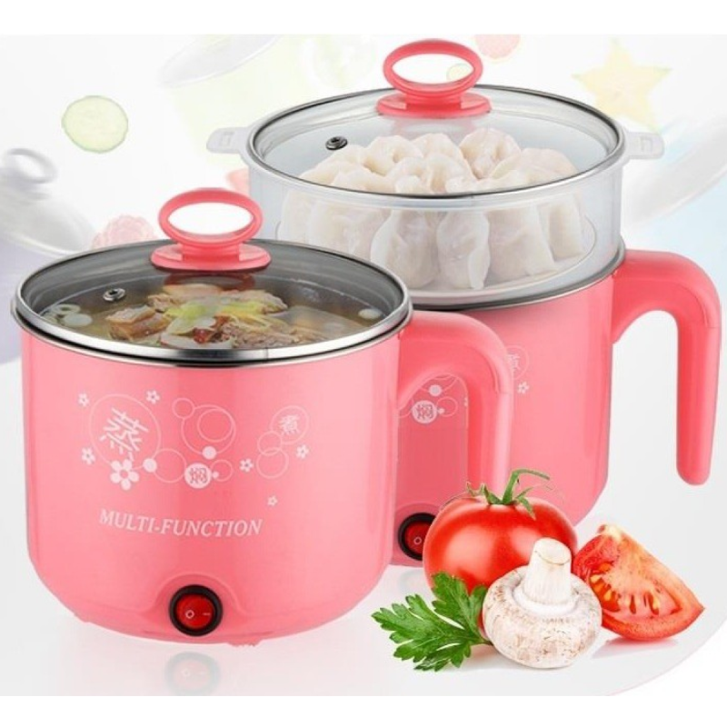 Multi Function Stainless Steel Electric Cooker Steamer Boiler For Tea Soups Eggs Mo:Mo'S.All In One 1.6L
