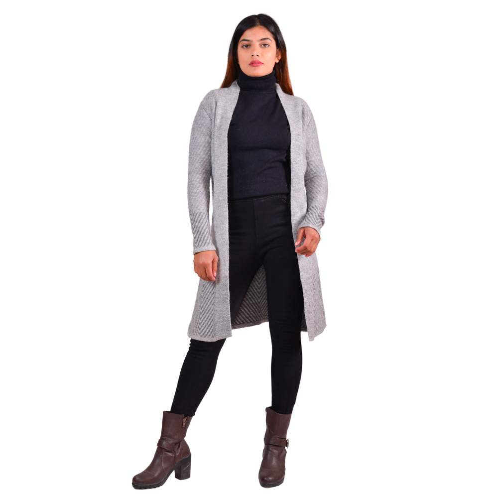 Paislei Grey Super Warm Shrug For Women - CL-5802