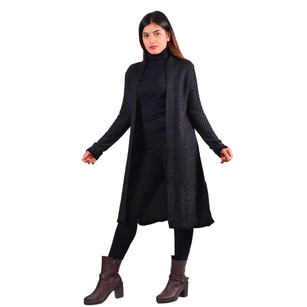 Paislei Black Thick Super Warm Shrug For Women - CL-5802