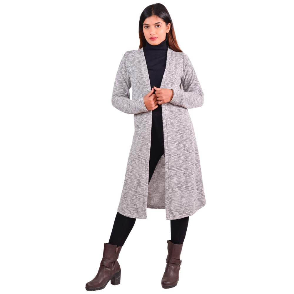 Paislei M.Grey Stylish Outer With Sleeves For Women - LH-1829-111