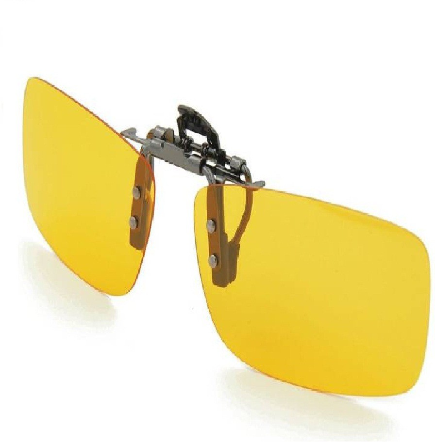 Insasta Clip On Sunglasses Sport Driving Night Vision Yellow Lens Sun Glasses For Men Women Cam