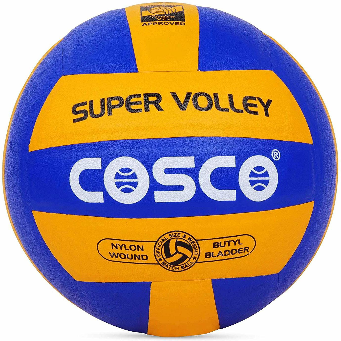 Cosco Super vollyball Volleyball - Size: 4 Pack of 1, Yellow, Blue