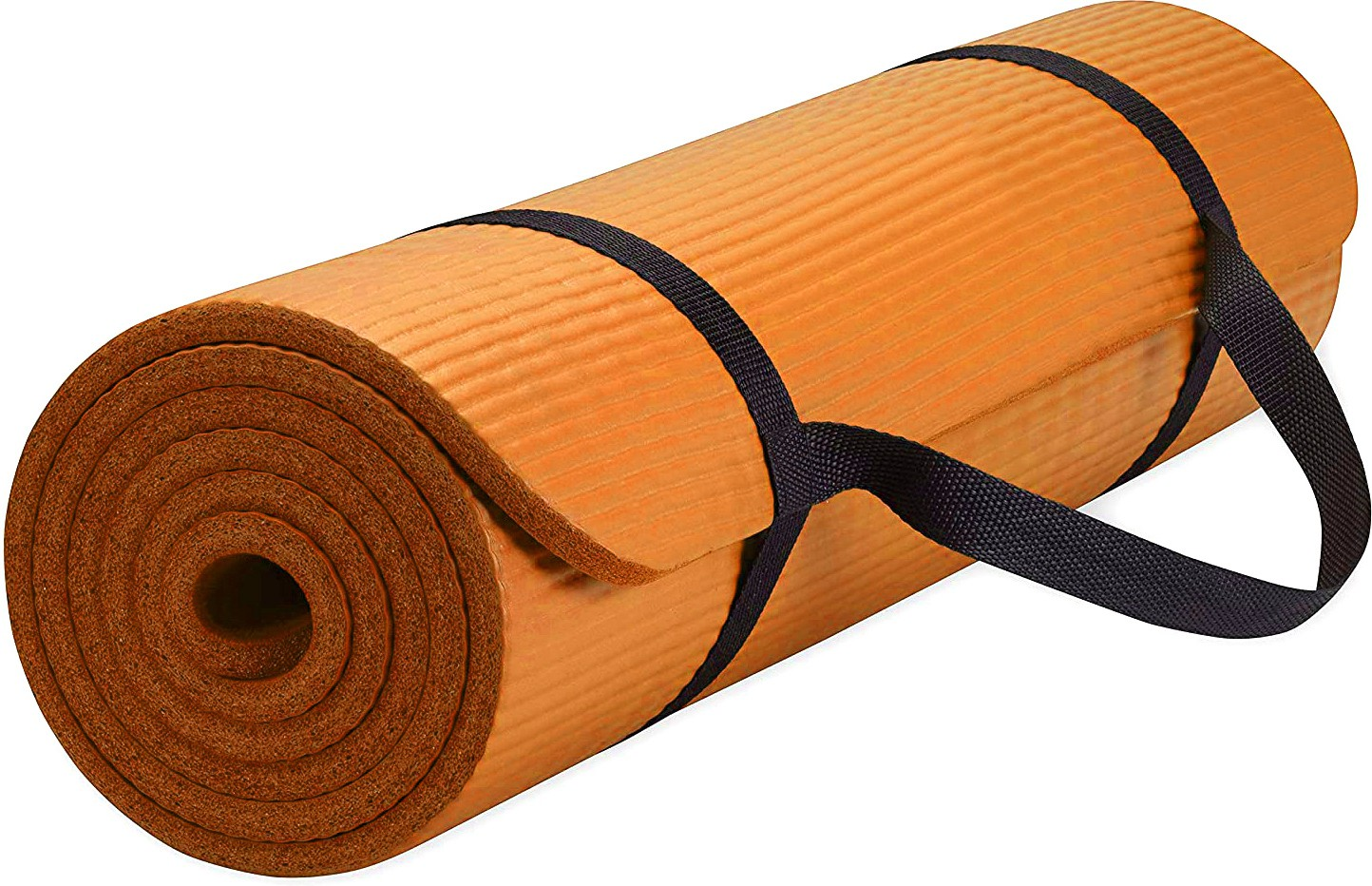 Fitness Mantra Anti Skid Yoga Mat with Strap Orange 6 mm Yoga Mat
