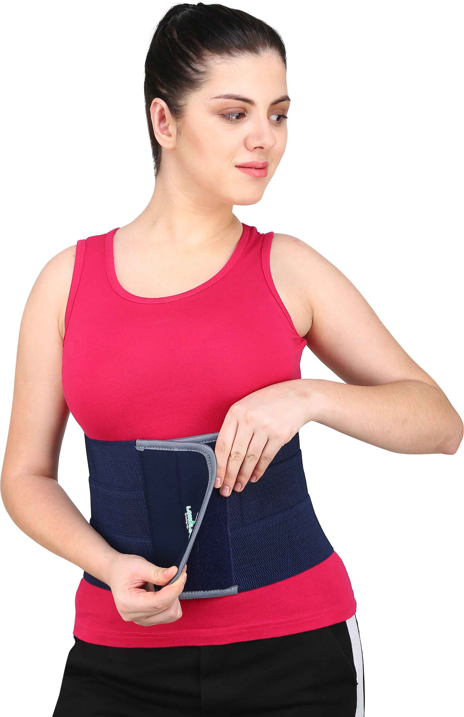 LONGLIFE abdominal belt after delivery for tummy reduction Abdominal Belt XXL Abdomen Support Blue