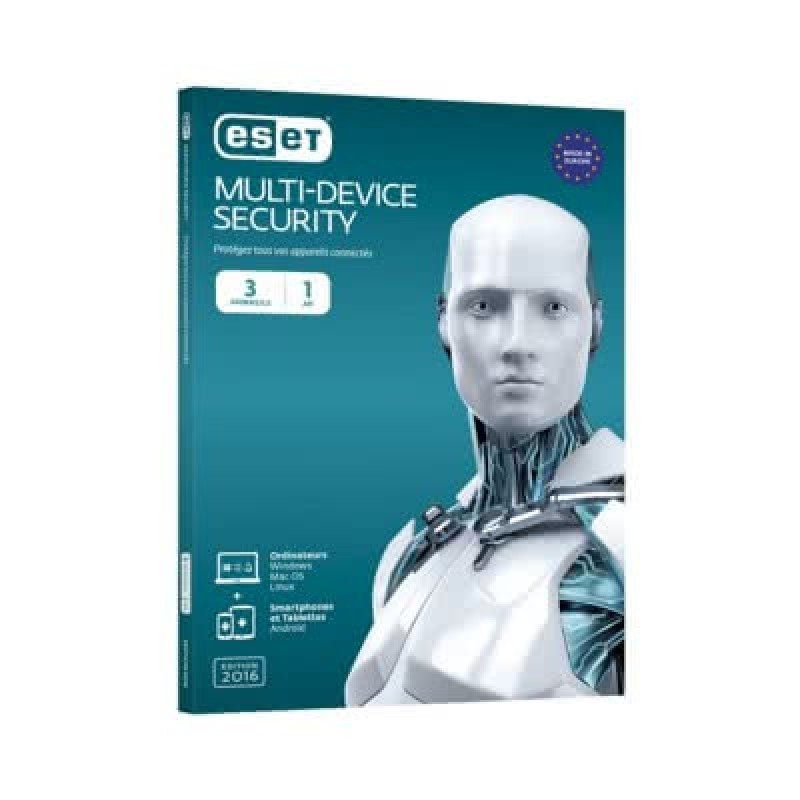 ESET Nod32 Antivirus | 3 user | 1 year