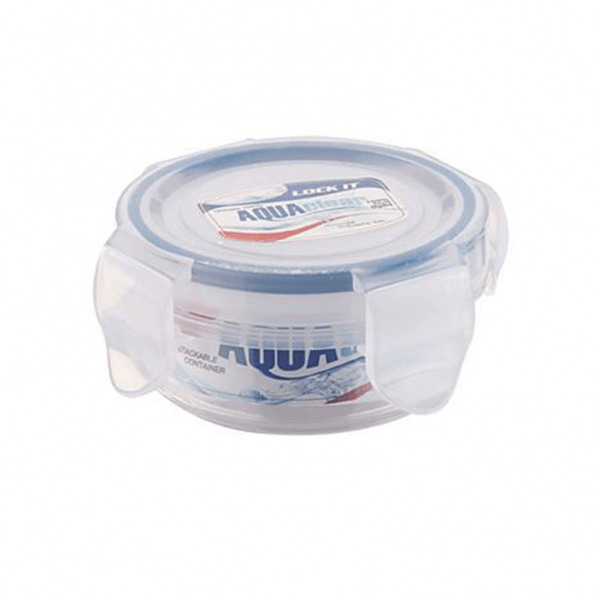 Prime Houseware Lock It Aqua Clear Small Round Container(100 ml)