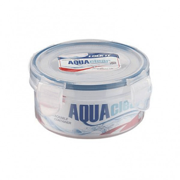 Prime Houseware Lock It Aqua Clear Round Container(300 ml)
