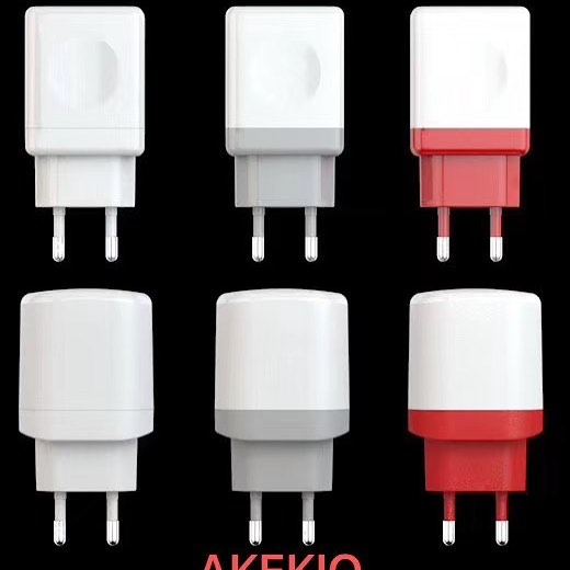 Akekio AC10 LIGHTNING White 2.IA Smart USB Charger For IOS Apple Phone & Tablets