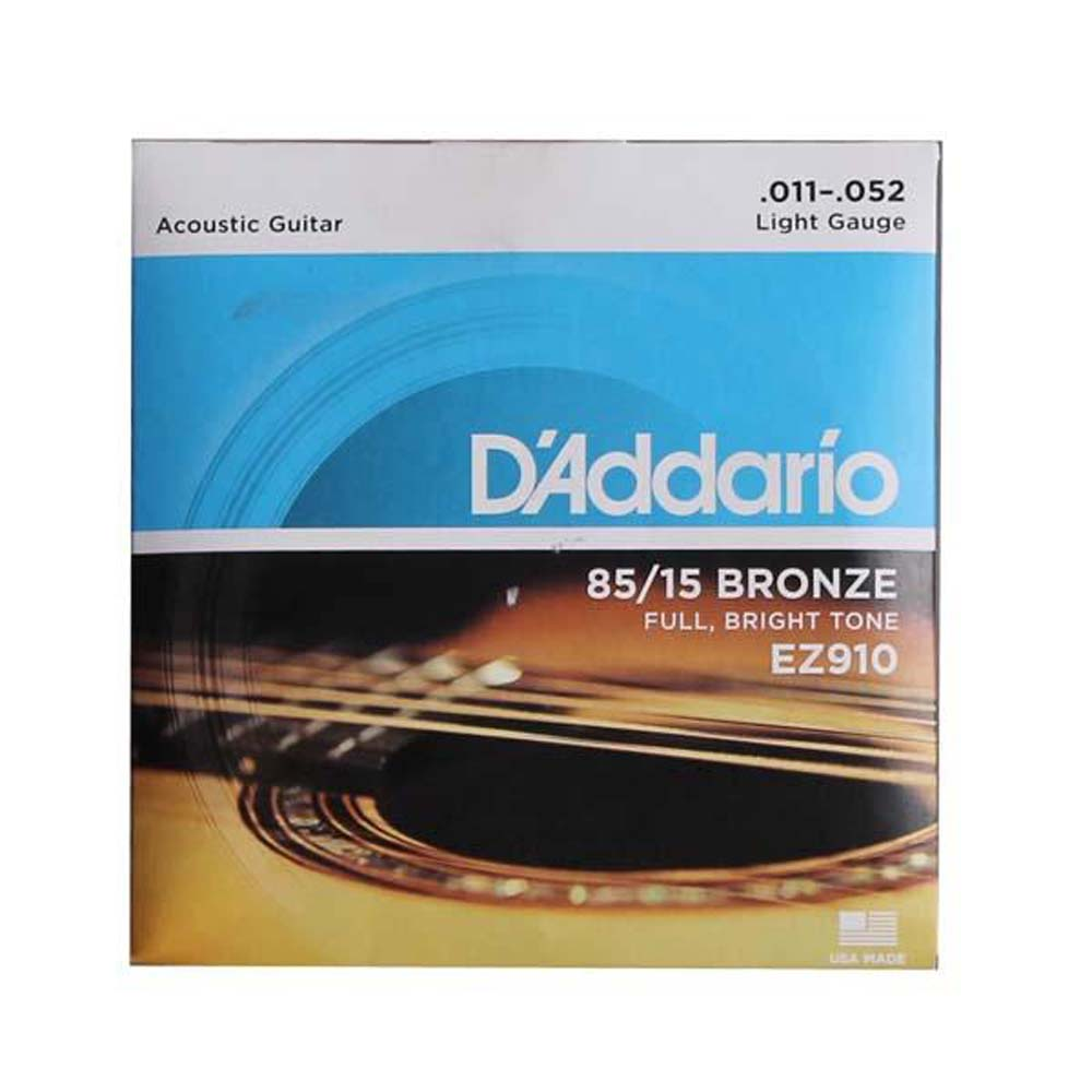 D'Addario EZ910 Bronze Light (.011-.052), 85/15 Acoustic Guitar Strings