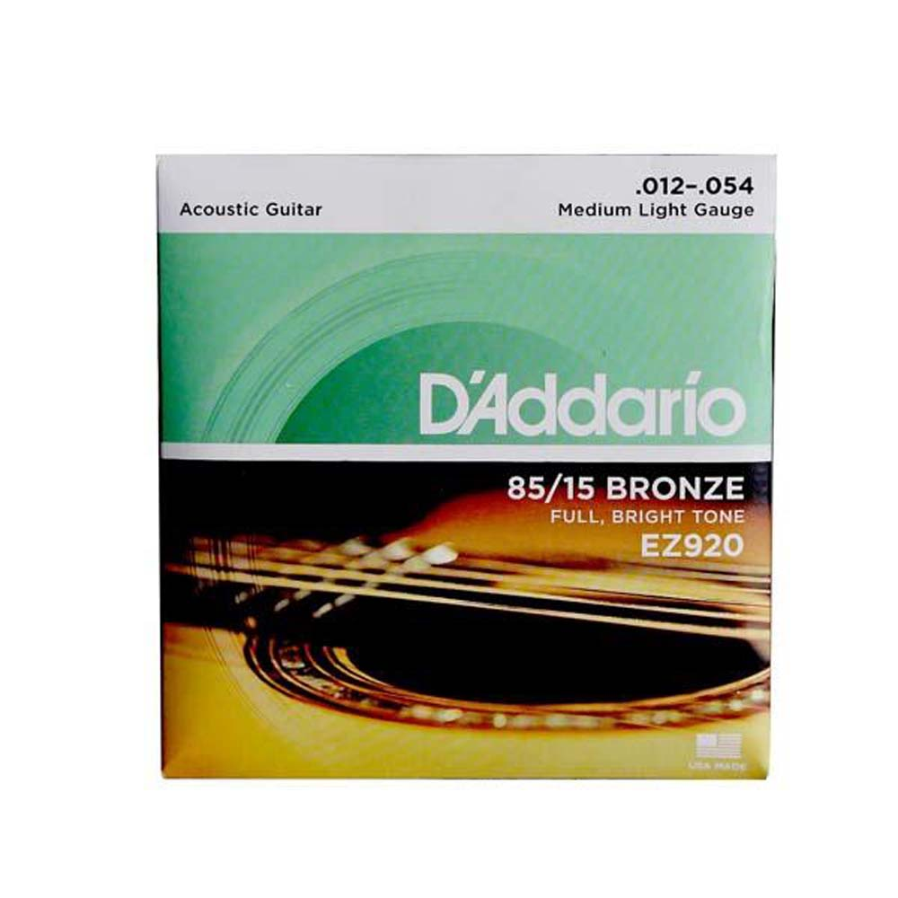 D'Addario EZ920 Great American Bronze Medium Light (.012-.054) Acoustic Guitar Strings