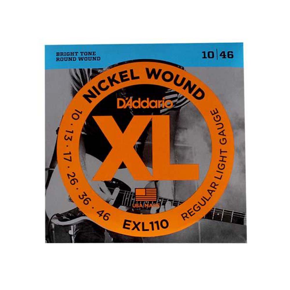 D'Addario Regular Light Nickel Wound Electric Strings EXL110
