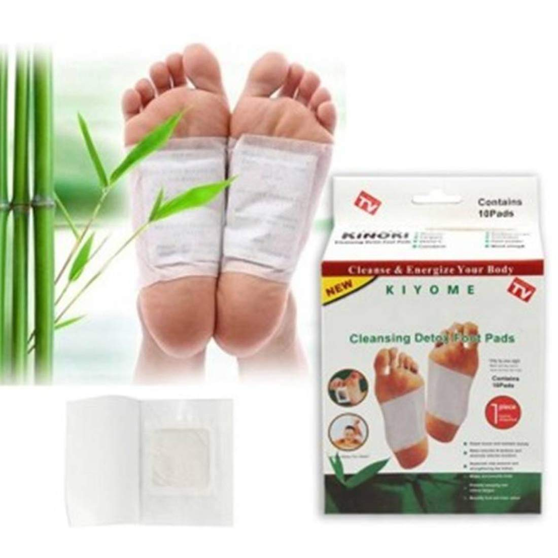 Kinoki Natural Unwanted Toxins Remover Cleansing Detox Foot Patches -Set Of 10