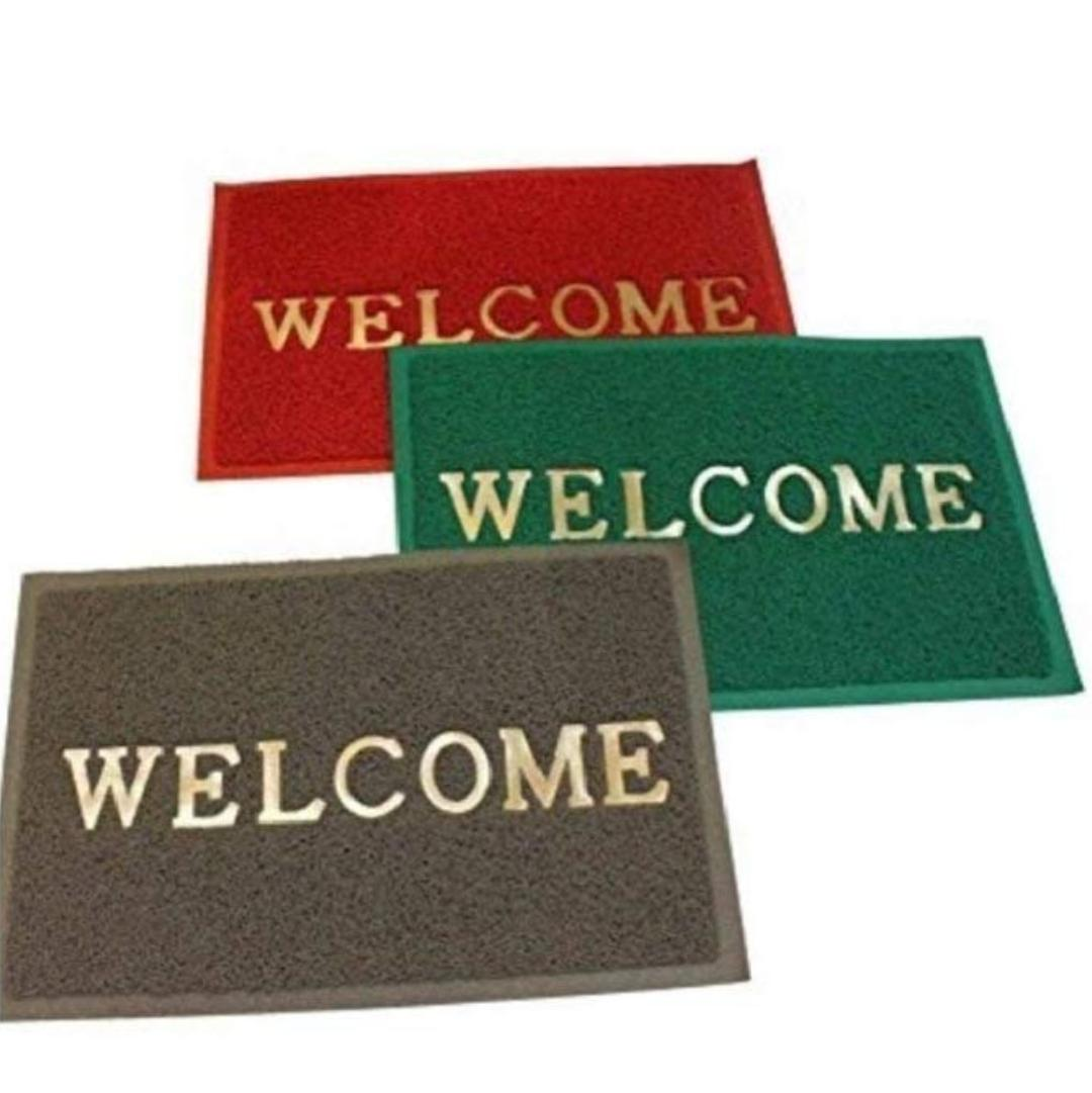 Set Of 3 Pieces Dust Remover Pvc Welcome Doormat