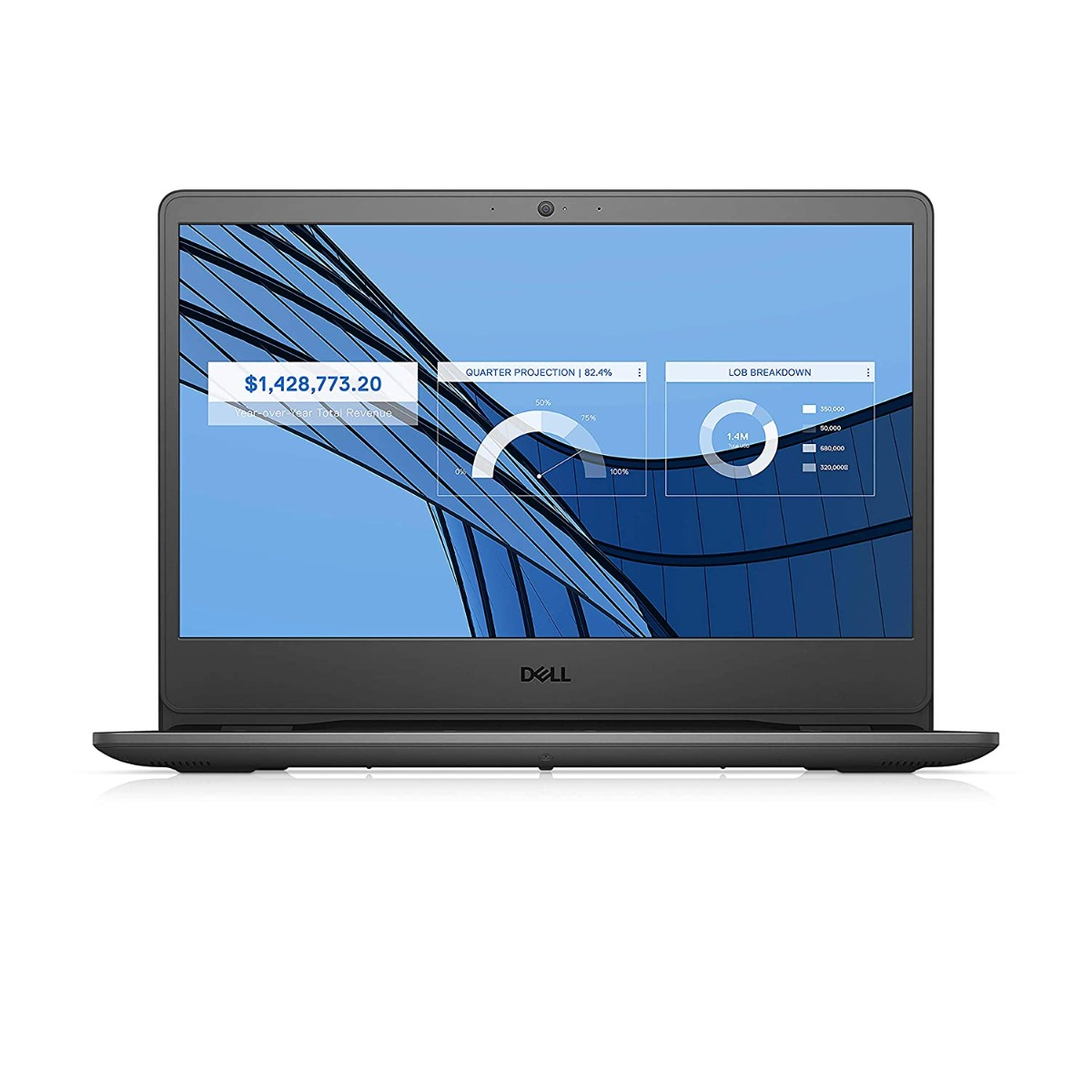 Dell Vostro 3401 14inch FHD Anti Glare 2 Side Narrow Border Display Laptop (10th gen i3-1005G1 / 4GB / 1TB / Integrated Graphics/ Win 10 + MSO/ Black)