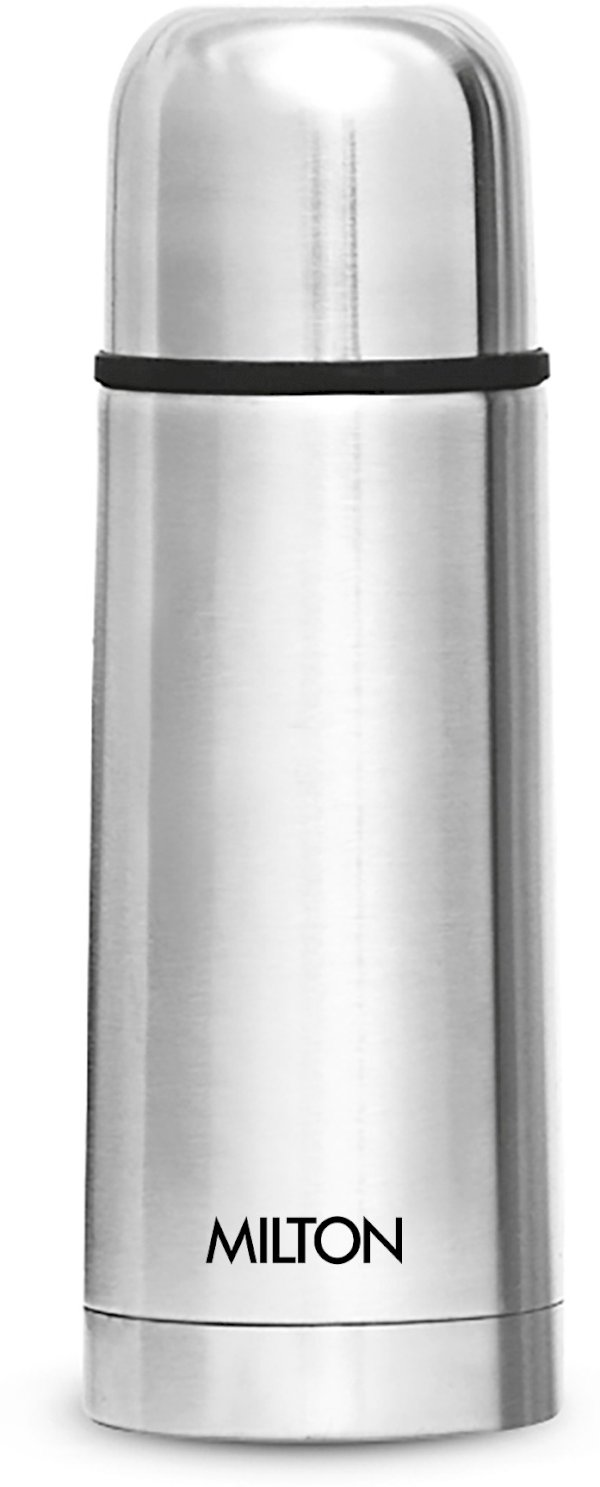 Milton THERMOSTEEL 350 FLIP LID 350 ml Flask Pack of 1, Silver, Steel