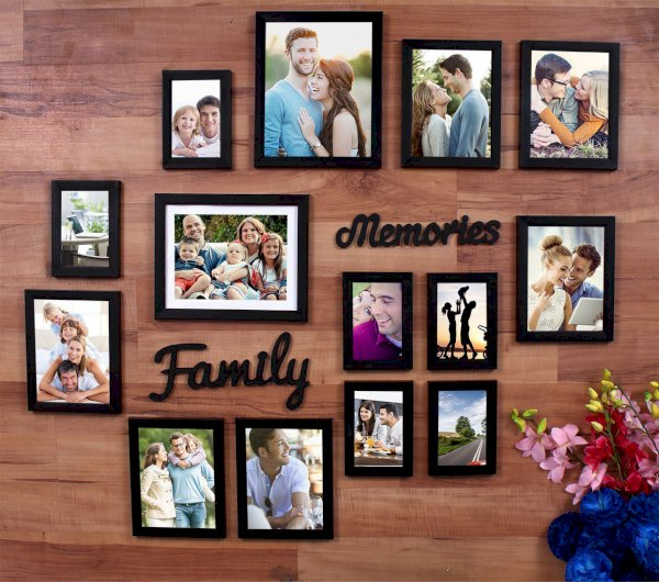 Painting Mantra Wood Photo Frame Black, 14 Photos