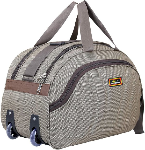 Inte Enterprises duffel trolley brown Small Travel Bag  - expandable Brown