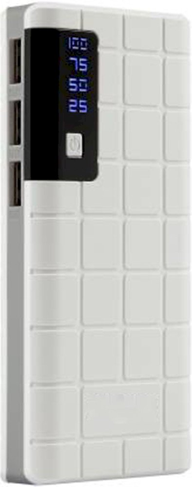 AMYTEL 10000 mAh Power Bank White, Lithium-ion