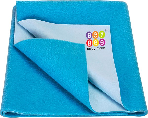 Bey Bee Water Resistant Bed Protector Baby Dry Sheet with Ultra absorbance -Small 50 cm X 70 cm Firoza